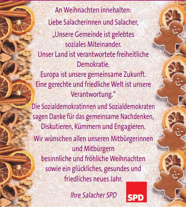 Frohe Weihnachten und ein gutes neues Jahr - SPD Salach